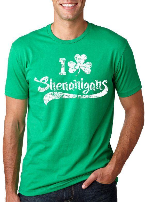 f3303652 Shamrock Shirt Mens, Shenanigans Shirt, Lucky Green Irish shirt, Luck Of  The Irish, Ireland Women, C