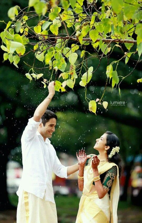 Kerala traditional bride and groom