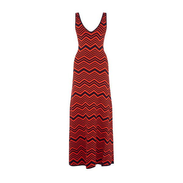 Warehouse Warehouse Chevron Maxi Dress Size 14 ($52) ❤ liked on Polyvore featuring dresses, red stripe, chevron maxi dress, evening maxi dresses, special occasion dresses, red striped dress and holiday dresses