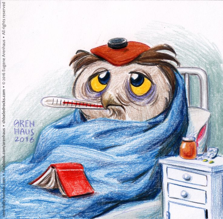 Owl Daily by Eugene Arenhaus — №409: Sick owl.