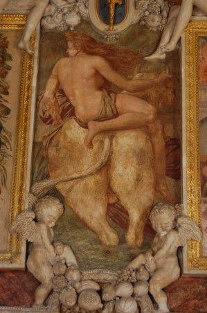 Ratto di Europa_ affreschi della Galleria di Francesco I, Fontainebleau, Rosso Fiorentino