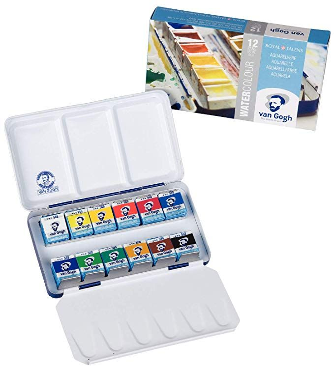 Amazon Com Van Gogh Watercolor Paint Set Plastic Pocketbox 12