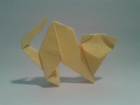 Como hacer un gato de papel facil (origami) - YouTube