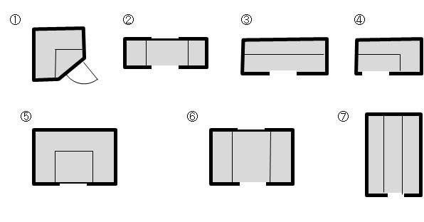 ◆ウォークインクローゼット研究:収納 の画像 間取りドクターサヤのアラウンド間取り図