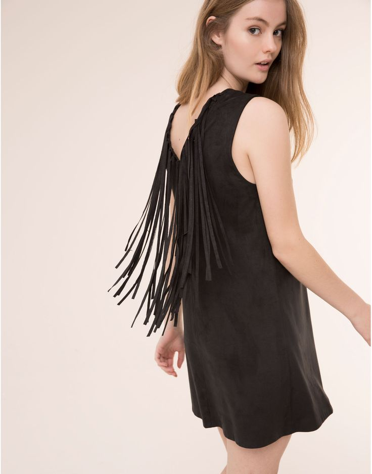 FRINGED FAUX SUEDE DRESS - NEW PRODUCTS - NEW PRODUCTS - PULL&BEAR Albania