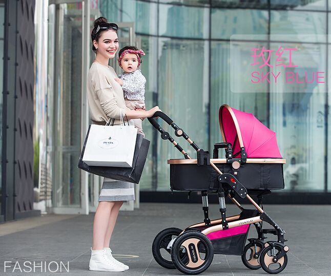 Baby Stroller 3 In 1 Single Seat Fashion Styl…