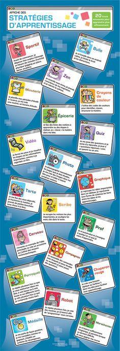 Éditions Midi trente - Affiche des stratégies d'apprentissage