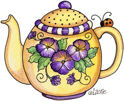 17 Best images about Teapots illustrations on Pinterest | Tea ...