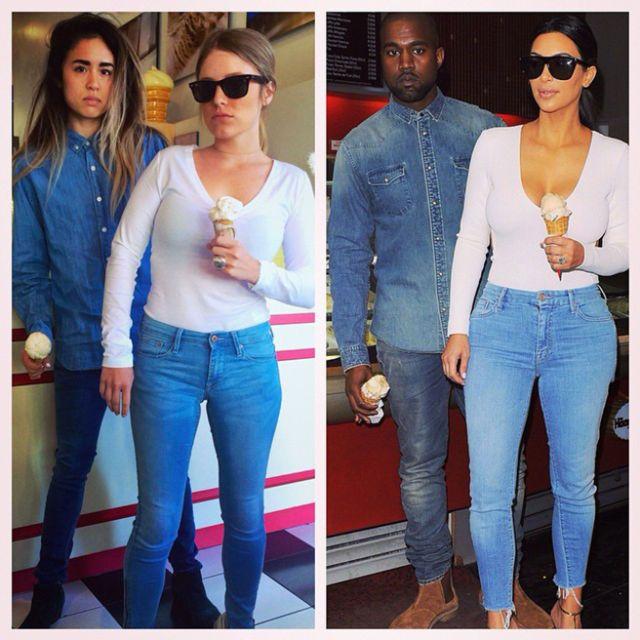 best friends who dress up exactly like kim kardashian and kanye west