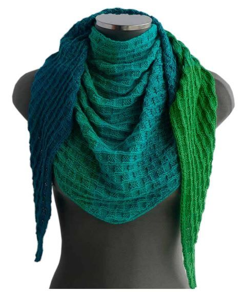 #Free #Knitting Pattern for a Triangle Scarf in Wendy's Evolution #Yarn - One Skein Pattern - One Ball Pattern