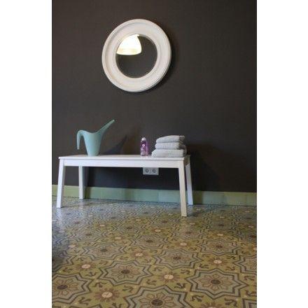 Grün- und Blautöne in diesem besonderen Muster. #via #cement #tile