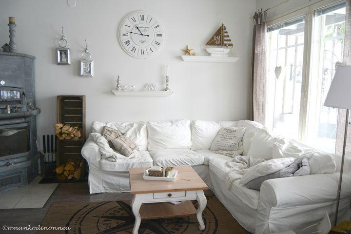 New living room ❤ Riviera Maison ❤ http://starbox.fi/omankodinonnea/saimaan-rannalla-sisustellen