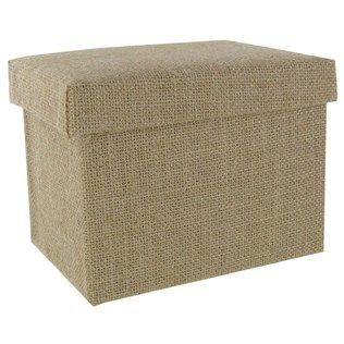 """Keep track of all your treasured memories in this Small Burlap Photo Box. The bare burlap box is a blank canvas just waiting for you to embellish it! Paint it, stamp it, stencil it and more. Add a few of your favorite embellishments and call it a day. The creative possibilities really are endless!    Dimensions:      Length: 7 1/2""""    Width: 5 1/2""""    Depth: 5 1/2"""""""