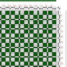 Hand Weaving Draft: Page 2, Figure 7, Bindungs-Lexikon für Schaftweberei, Franz Donat, 2S, 2T - Handweaving.net Hand Weaving and Draft Archive