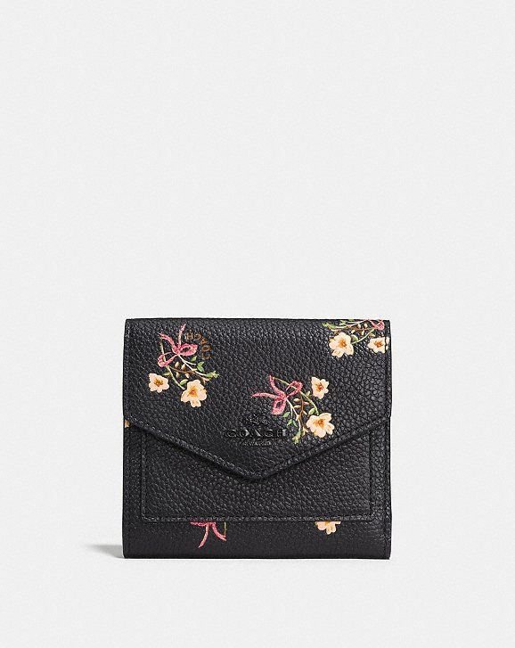 Coach Small Wallet With Floral Bow Print  f22d96d37c2