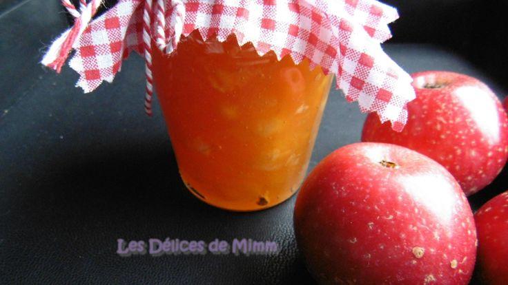 Confiture de pommes au caramel