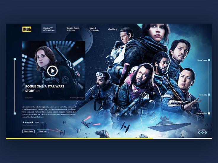 IMDb Rogue One | Day 2/30 by Reiss #Design Popular #Dribbble #shots
