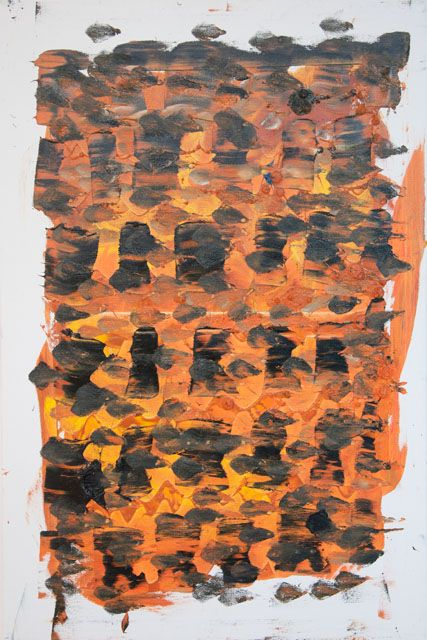 Stella Corkery: Untitled 93; oil on readymade canvas and stretcher, 610mm x 910mm