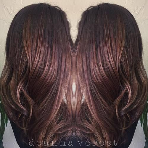 #16 & 18 for suresies! dark brown hair with subtle highlights