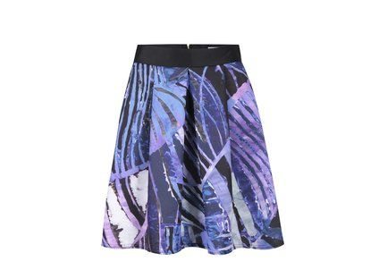 Fialovo-modrá vzorovaná sukně Closet