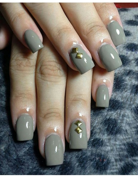 The 25 best rhinestone nail designs ideas on pinterest nails rhinestone nail art ideas acrylic grey simple winter color prinsesfo Image collections