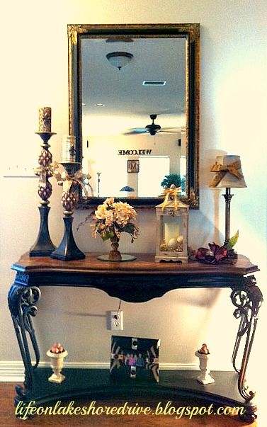 Foyer Table Vignettes : Best images about entry ways and tables on pinterest