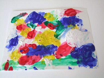 Use Food Dye To Vanilla Yogurt And Let Kids Finger Paint