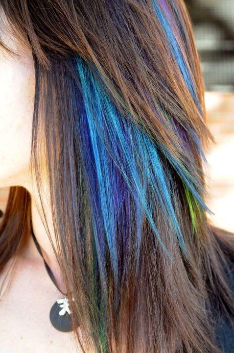 Peacock Hair ~ Cool!