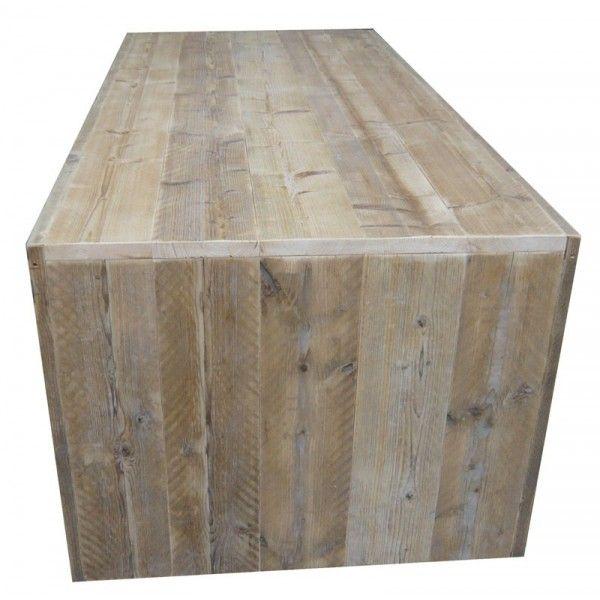 Tafel steigerhout dichte zijkant