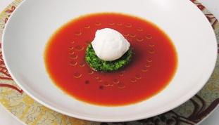 Chilled tomato cream