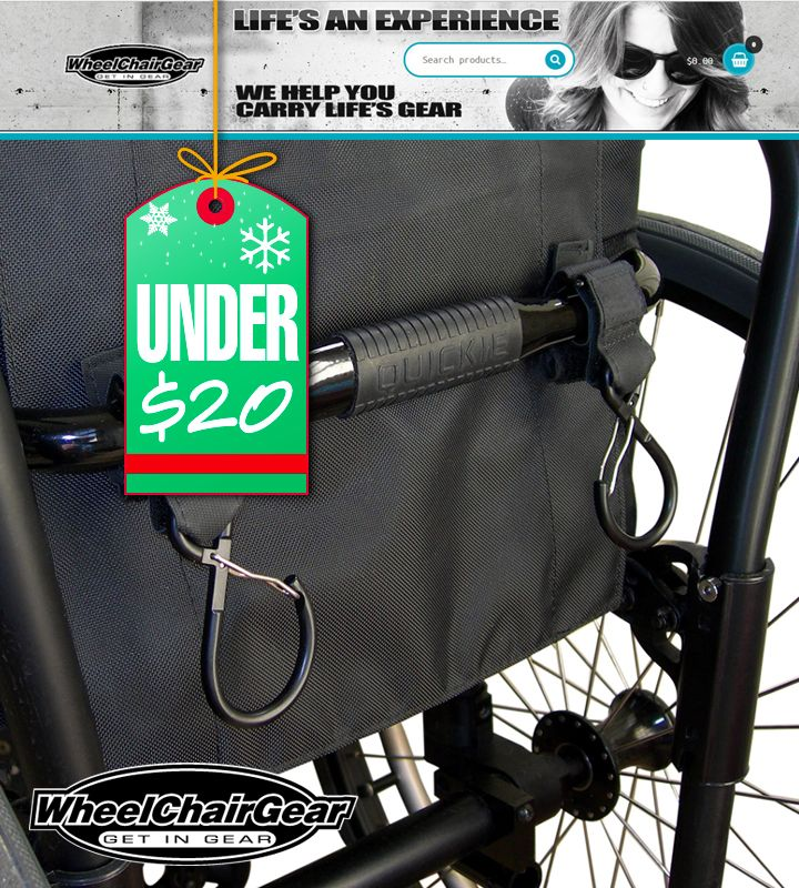 Wheelchair User S Gear Under 20 To Help You Carry Stuff Mini Packs Grip Clips Super Duty Clips Stai Wheelchair Bags Stainless Bottle Bottle Holders