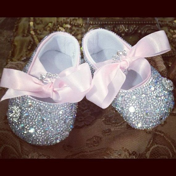 blinged out shoes for babies by TwinkleBling on Etsy, $75.00
