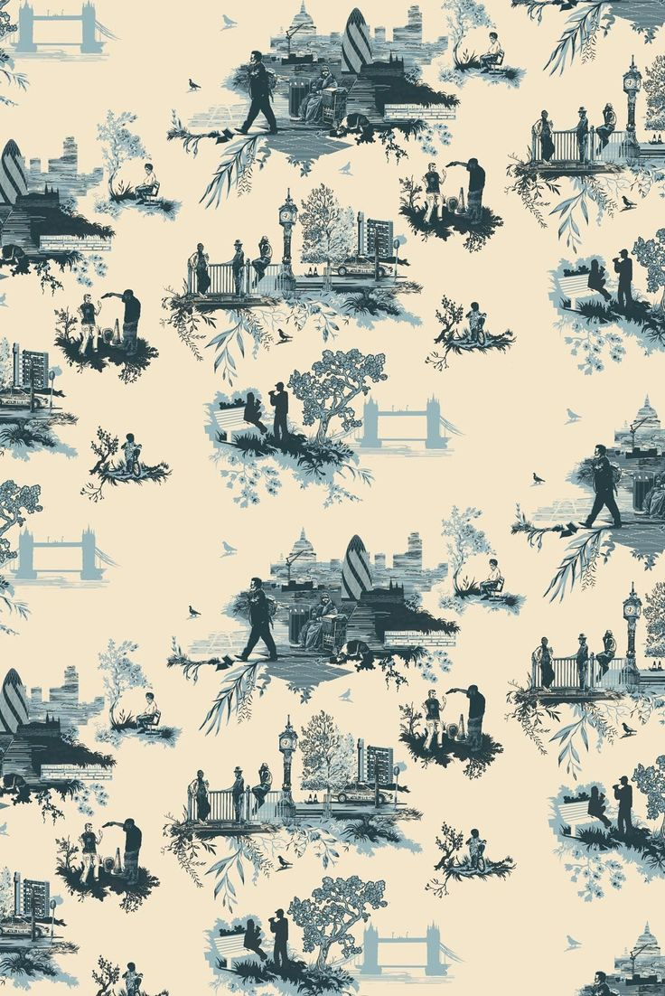 Timorous Beasties - Wallcoverings - London Toile. Great twist on an old style.