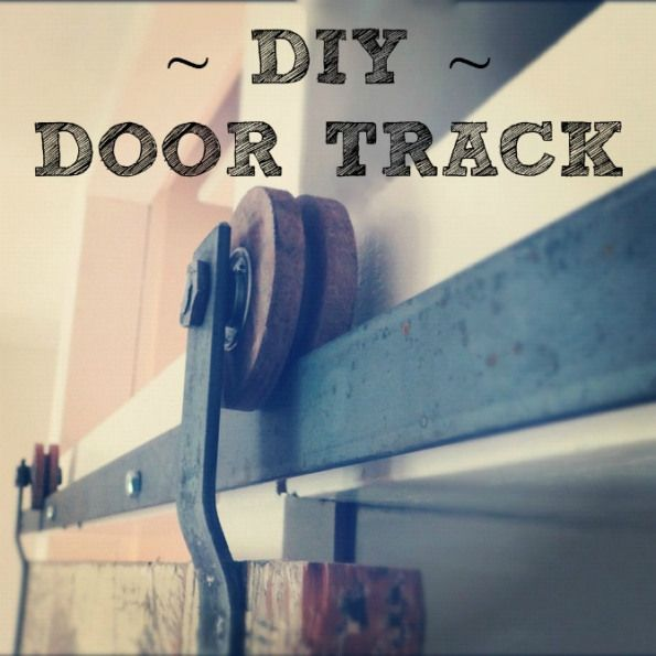 Do it yourself door track hardware on old doors- also cheap site to get hardware!