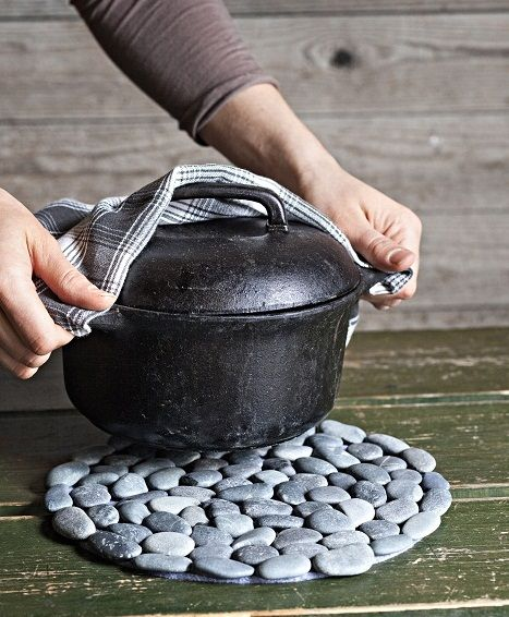 Tutorial on how to make a pot stones hot pad. Page is in finnish but google will translate if you use chrome.