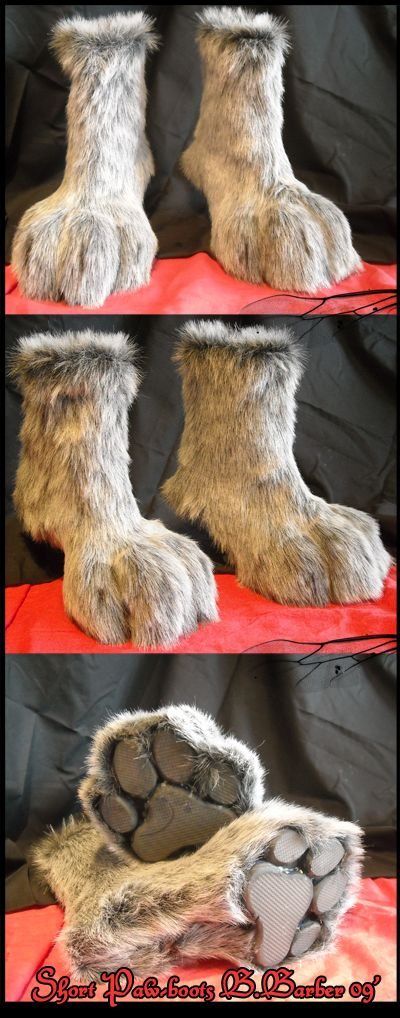 less lift, but takes less practice to walk in and is overall easier to construct than previous paw boots. Sold!