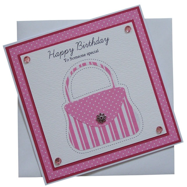 Handmade Handbag Birthday Card £1.80