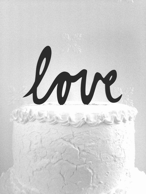 Love Cake Topper - Custom Wedding Cake Topper, Romantic Wedding Cake Decoration, Love Cake Topper, Traditional Wedding Cake Topper
