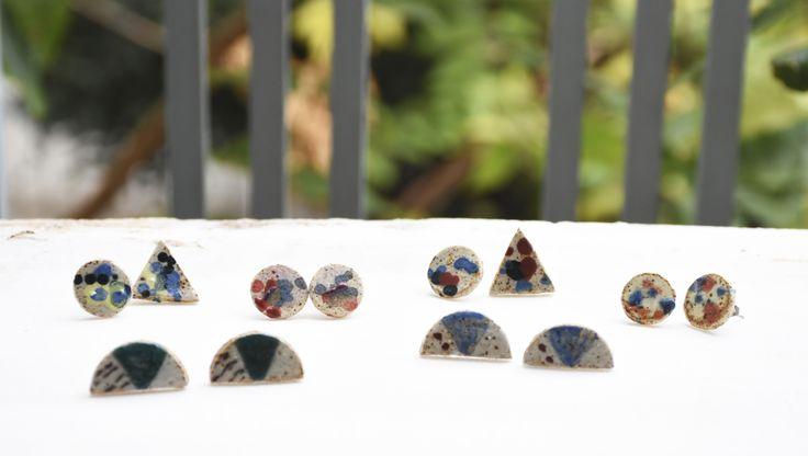 ceramic clay earrings