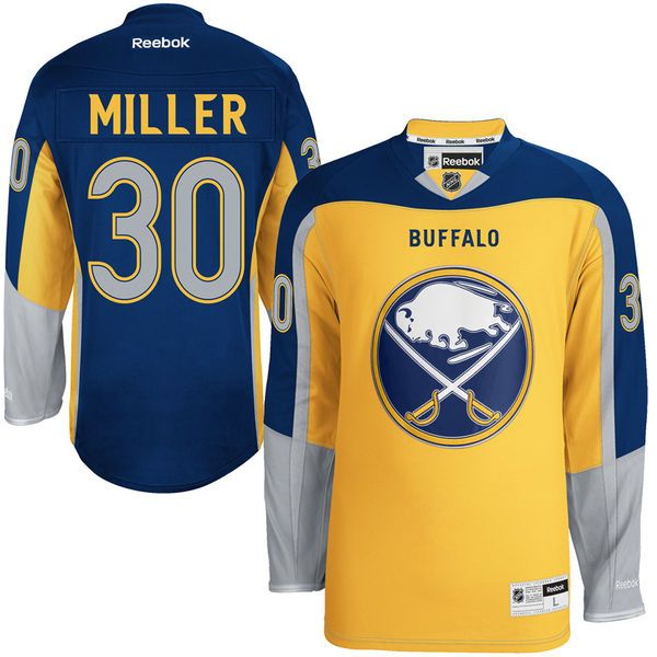 Ryan Miller Buffalo Sabres Reebok Alternate Premier Jersey – - $50.99