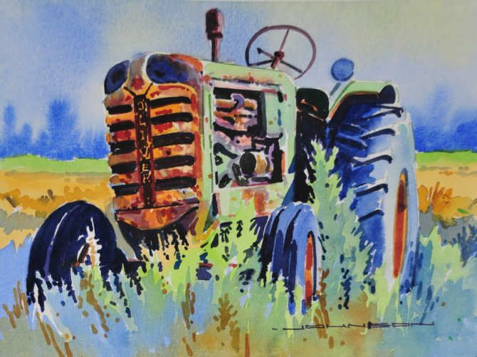 An Old Oliver Rusting in the Field by Gregg Johnson
