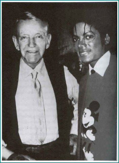 MJ and world famous dancer Fred Astaire 1984  | Curiosities and Facts about Michael Jackson ღ by ⊰@carlamartinsmj⊱
