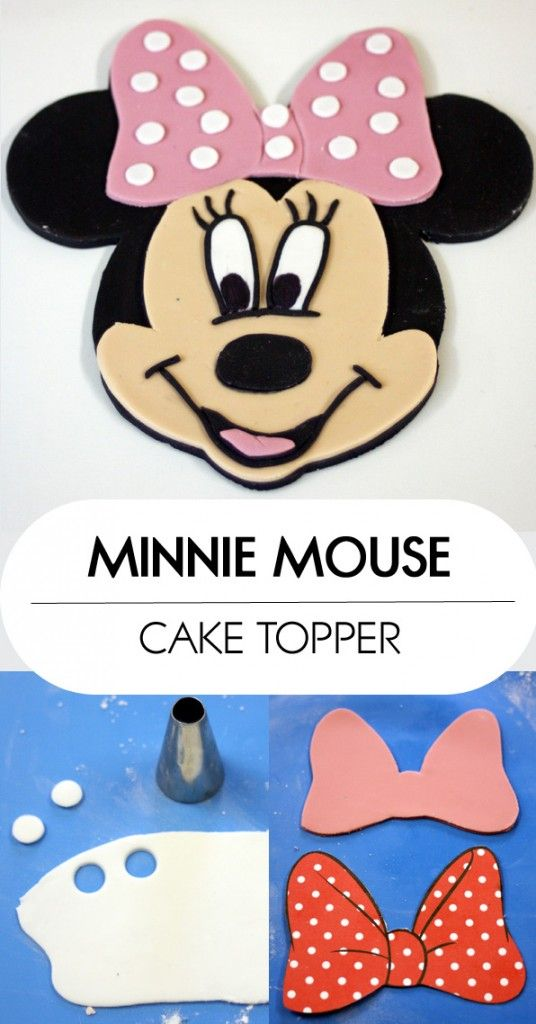 Minnie Mouse Cake Topper How-To | www.80cakes.com