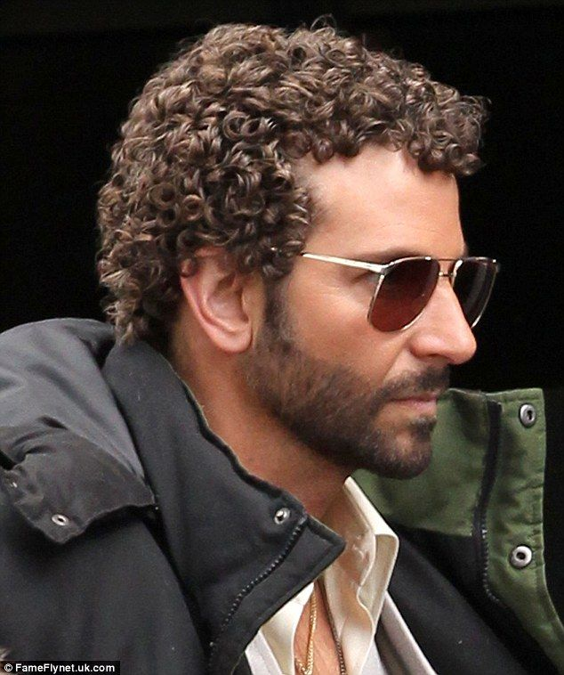 Bradley Cooper shows off his perm onset with Jennifer Lawrence ...