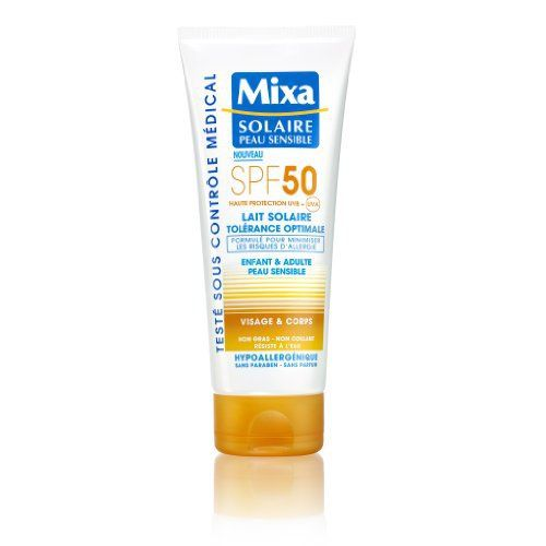 Mixa Solaire Peau Sensible – Lait Solaire Tolérance Optimale SPF 50 – 200 ml: Pour protéger efficacement la peau des coups de soleil et…