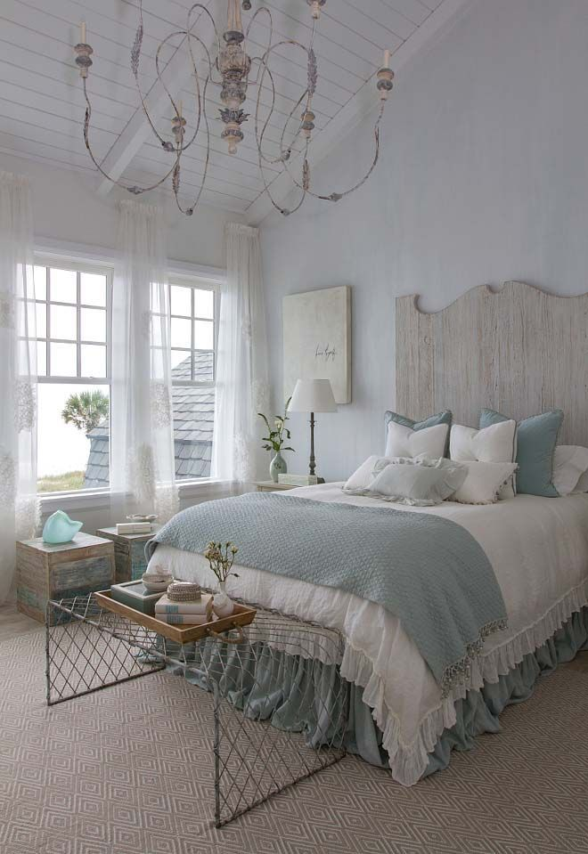 coastal chic shingle style gambrel home in sunny florida - Beach Bedroom Decorating Ideas