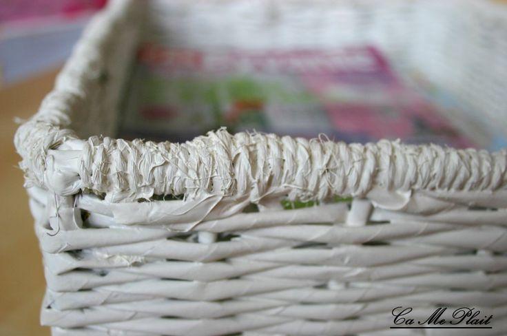 25 best ideas about panier en papier journal sur pinterest panier de papier artisanat de. Black Bedroom Furniture Sets. Home Design Ideas