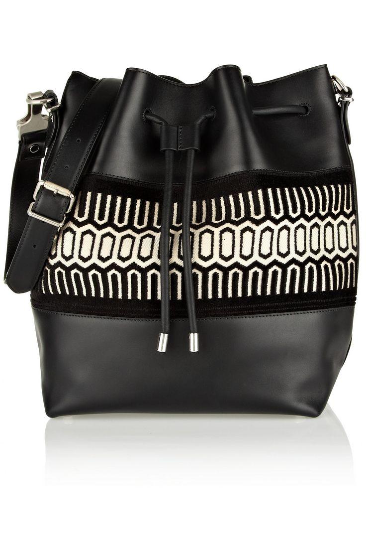 Proenza Schouler|Sac porté épaule en cuir avec finition en jacquard Bucket Large|NET-A-PORTER.COM