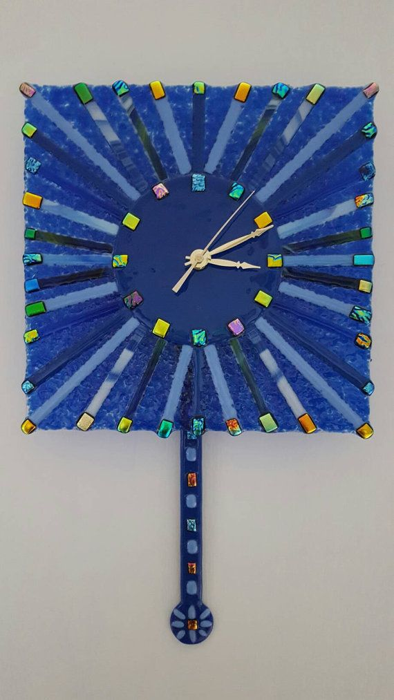 Check out this item in my Etsy shop https://www.etsy.com/listing/507008071/pendulum-clock-fused-glass-pendulum