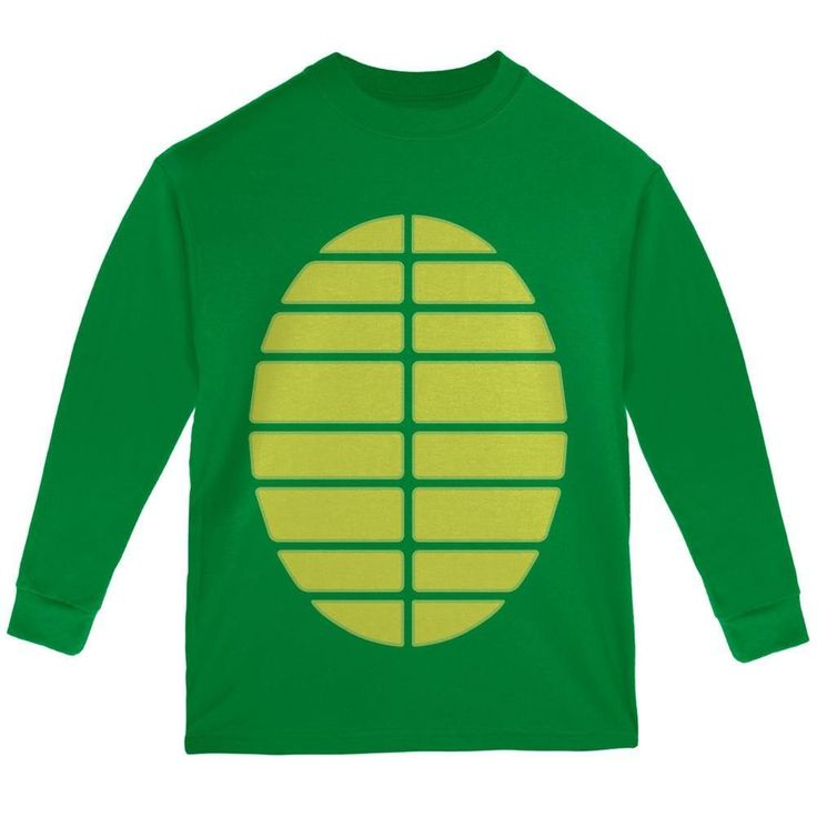 Halloween Turtle Costume Green Youth Long Sleeve T-Shirt